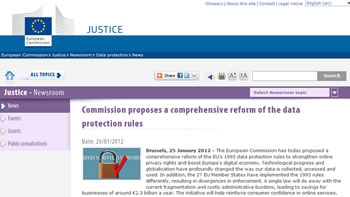 Screenshot  European Commission